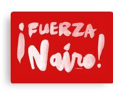 Fuerza Nairo Quintana : v1 - White Script Canvas Print