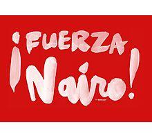Fuerza Nairo Quintana : v1 - White Script Photographic Print