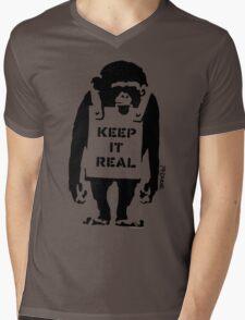 Banksy - Keep It Real Mens V-Neck T-Shirt
