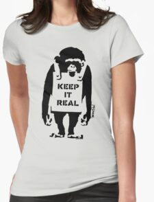 Banksy - Keep It Real Womens Fitted T-Shirt