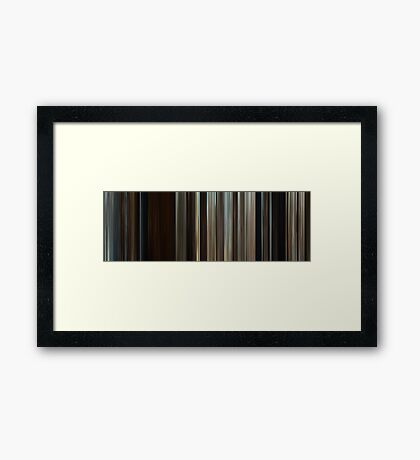 Moviebarcode: Where the Wild Things Are (2009) Framed Print