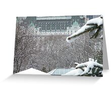 Central Park In Snow Greeting Card