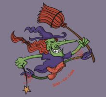 Crazy Witch Jumping Kids Tee