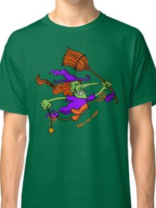 Crazy Witch Jumping Classic T-Shirt