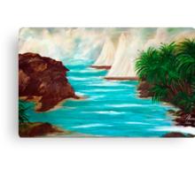 SAILING ON THE COAST OF CALIFORNIA Canvas Print