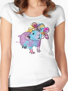 Watercolour Rattie Women's Fitted Scoop T-Shirt