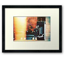 vintage camera. Framed Print