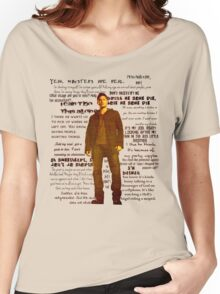 Dean Winchester quotes - red Women's Relaxed Fit T-Shirt