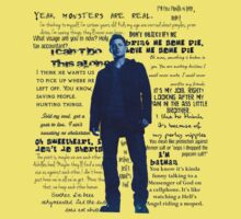 Dean Winchester quotes - blue Kids Tee