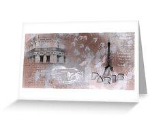 Paris Collage Greeting Card