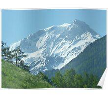 """""""White Mountain""""  Champoussin, Switzerland Poster"""