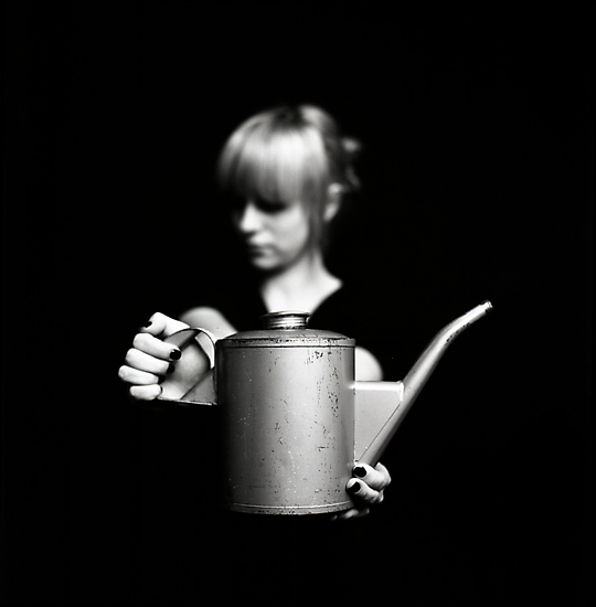 Zoe with can by Tony Kearney