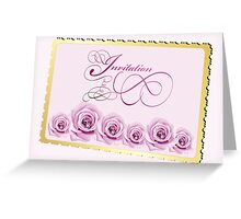 Invitation card with roses Greeting Card