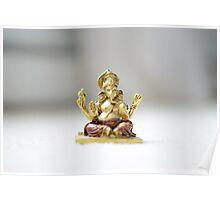 Floating Ganesha  Poster