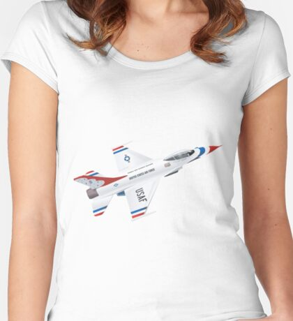 Thunderbirds Air Demonstration Team  Women's Fitted Scoop T-Shirt
