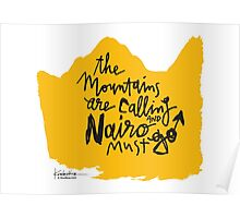 The Mountains Are Calling and Nairo Must Go  Poster