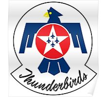 USAF Thunderbirds Air Demonstration Team Poster