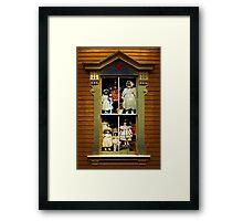 Dollhouse Gothic Framed Print