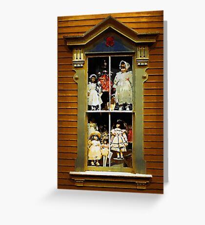 Dollhouse Gothic Greeting Card