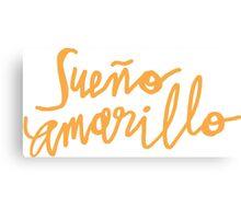 Nairo Quintana : Sueno Amarillo / Yellow Dream in Yellow Lettering Canvas Print