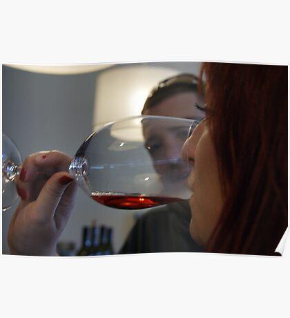 Wine tasting... Poster