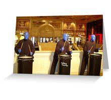 BLUE MAN GROUP - Las Vegas Greeting Card