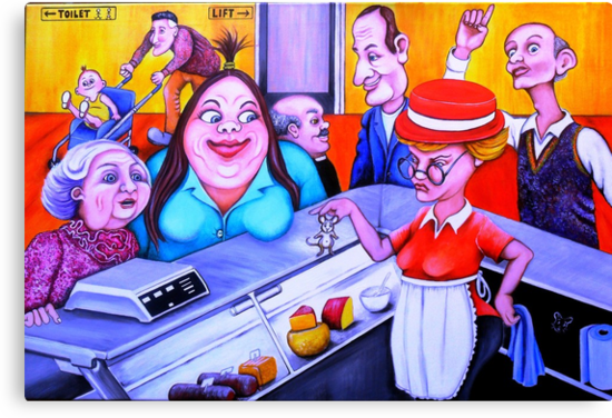 New line on the deli counter? by Margaret Sanderson