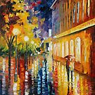 RAINY PATH - LEONID AFREMOV by Leonid  Afremov