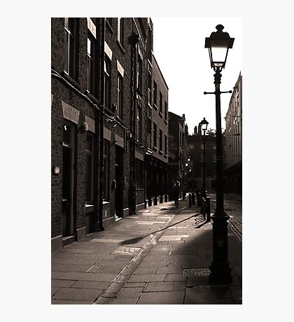 Dublin street in the early morning Photographic Print