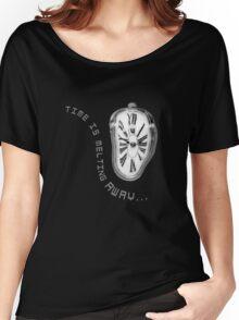 Salvador Dali Inspired Melting Clock. Time is melting away. Women's Relaxed Fit T-Shirt