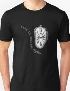 Salvador Dali Inspired Melting Clock. Time is melting away. T-Shirt