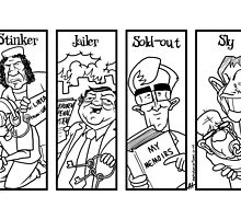 Stinker, Jailer, Sold-out, Spy by Alex Hughes