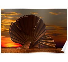 Scallop Sunrise at Aldeburgh Poster