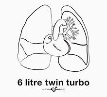 Six Litre Twin Turbo (light shirt) Unisex T-Shirt