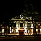 Administrative building at night by qiiip