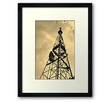 TV receiving-transmitting antenna Framed Print