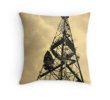 TV receiving-transmitting antenna Throw Pillow