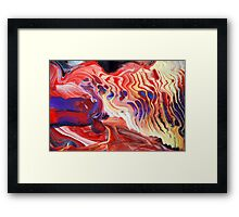 Flowing Acrylic Colours Framed Print