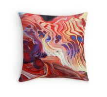 Flowing Acrylic Colours Throw Pillow