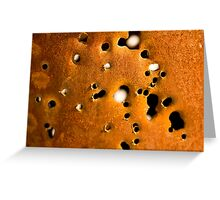 Rusty Gun Barrel  Greeting Card