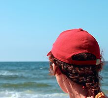 A woman in a red cap by qiiip