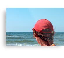 A woman in a red cap Metal Print