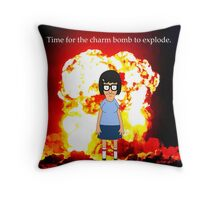 Tina Belcher Charm Bomb Throw Pillow
