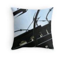 Razor Wire Throw Pillow