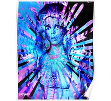Psychedelic Barbie Poster