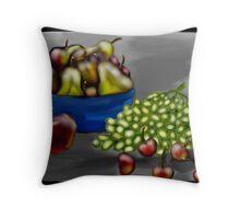 Fruit in B&W Throw Pillow