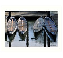 Boats Awaiting for You Art Print