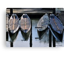 Boats Awaiting for You Canvas Print