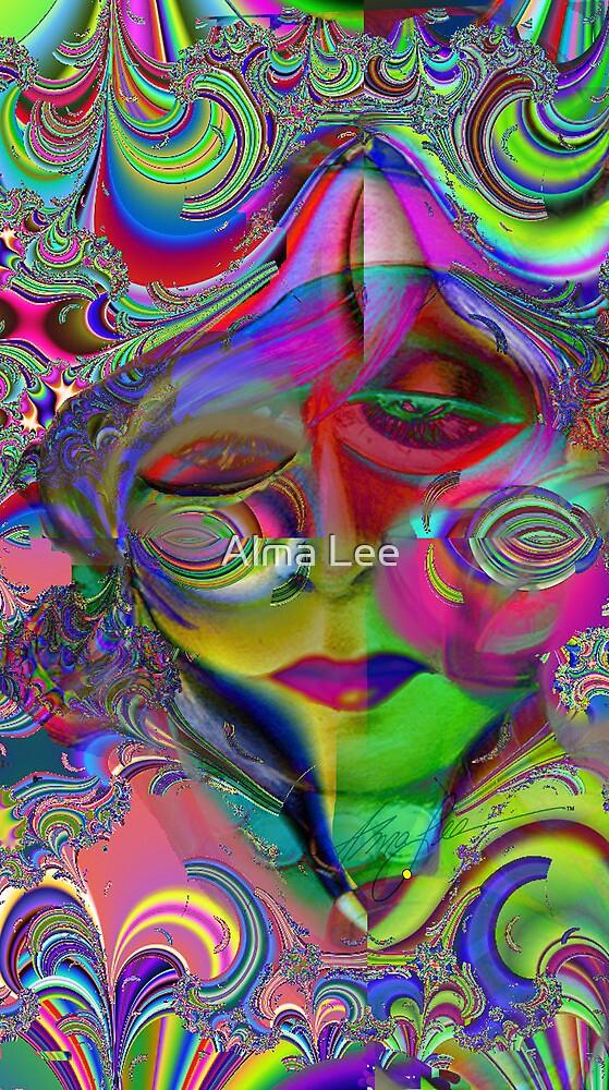 Max Fractal Woman,Psychedelic Pop Art by Alma Lee by Alma Lee
