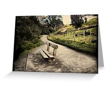 Base track, Mt Mauao. Tauranga, New Zealand. Greeting Card